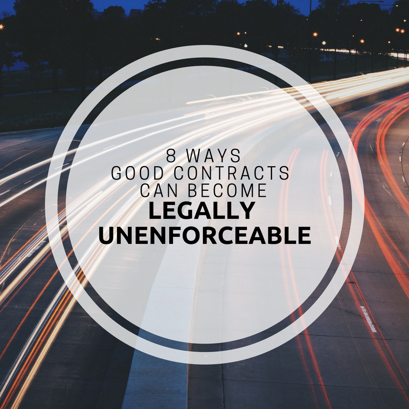 How Contracts Can Become Legally Unenforceable